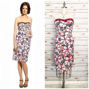 """MILLY of NY """"Valencia""""Strapless Floral Print Dress"""